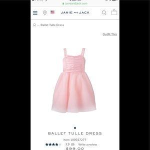 Janie & Jack 4T Petal Pink Ballet Tulle Dress